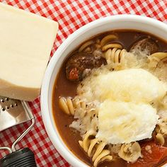 Slow Cooker Lasagna Soup from Real Mom Kitchen is easy to get in the slow cooker and cooks unattended for 8-9 hours.  [via Slow Cooker from Scratch]