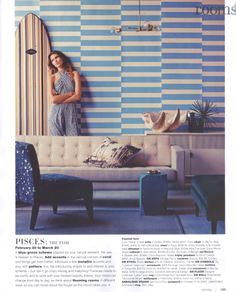 Design in Print│ real living August 2013 featuring the Arthur G Coco Chair