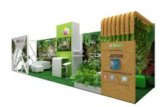 Innpulsa Biolatam by Camila Angel. Green exhibition design