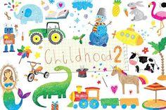childhood doodle set 2 @creativework247