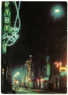 Postcards of Polish Cold War Neon -- These postcards are a dazzling reminder of the sheer scale and creative expression employed at the height of the Polish neonization project during the Cold War period. #neon