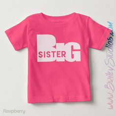 Big Sister Short Sleeve Toddler T-Shirt, Big Sis Tee, Trendy Clothes Gift, Matching Family, Personalized Kid Clothes, Pregnancy Announcement by BrileyStudios on Etsy