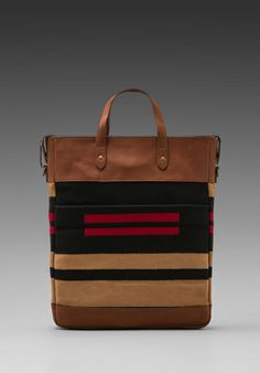 THE PORTLAND COLLECTION BY PENDLETON Monument Laptop Bag in Pinyon Stripe -