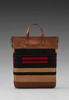 THE PORTLAND COLLECTION BY PENDLETON Monument Laptop Bag in Pinyon Stripe -