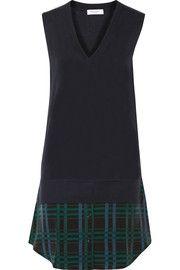 EquipmentPortia layered wool and cashmere-blend dress