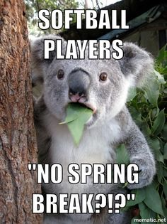Yep. No Spring Break in college. Never missed it either. Enjoyed playing ball.
