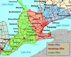 Map Of Southern Ontario Canada