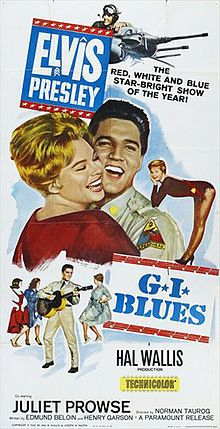 1960 G.I. Blues  Theatrical release poster  Directed by	Norman Taurog  Produced by	Hal B. Wallis  Written by	  Edmund Beloin  Henry Garson  Starring	  Elvis Presley  Juliet Prowse  Robert Ivers  Music by	Joseph J. Lilley