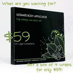Box of 4 wraps only $59 as a Loyal Customer. http://cbblondiewrapyou.myitworks.com/home