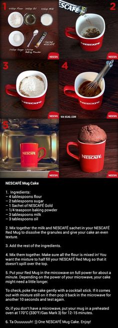 How To Make A NESCAFÉ Mug Cake For going down memory lane with Nescafé in all the places I've lived in the world, especially Africa. I have several of these Nescafé mugs :-):