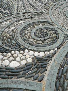 mosaic at Gresgarth Hall in London
