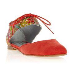 Sandales en cuir corail - Ippon Vintage - Ref: 995129   Brandalley