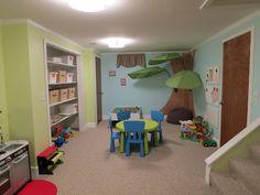Elegant kids basement playroom ideas - Make Your Kids Happy With Kids Basement Playroom Ideas Playroom Paint Colors, Colorful Playroom, Playroom Design, Playroom Decor, Cheap Playroom Ideas, Kids Basement, Basement Daycare Ideas, Playroom Storage, Home Daycare