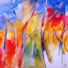 """Saatchi+Art+Artist+Alessandro+Andreuccetti;+Painting,+""""Colors+of+the+forest""""+#art"""
