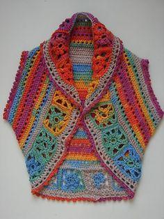 Crochet y cuadrados de la abuela .