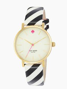 Love the print on the strap.  Kate Spade metro watch in black/cream/bazooka pink