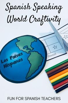 """This booklet can be used as a """"passport."""" Have your students color the flag after a cultural exploration. It can also be used as an activity for early finishers or a sub plan! It includes the flags of the 21 Spanish speaking countries! Spanish Teacher, Spanish Classroom, Spanish 1, How To Speak Spanish, Famous Hispanics, Middle School Spanish, Spanish Teaching Resources, Spanish Speaking Countries, World Languages"""
