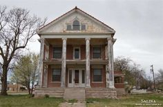 200 Court Ave., Ellsworth KS. FOR SALE: $39,000. More than 5,000 sq ft. Once-stately mansion in Kansas has plenty of space. Original woodwork ... and a toilet in the living room. Needs a little work to return it to its 1910 era glory.