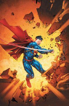 Superman Man of Steel New 52 Jim Lee DC Comics Superheroes Superhero