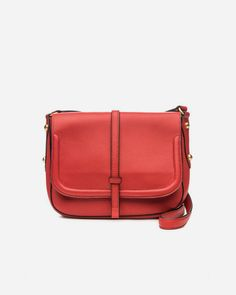 35de189f64 The Allisyn Saddle Bag by Annabel Ingall is done in Scarlet Red - a great  color for any season. Shop the collection at Paula   Chlo.