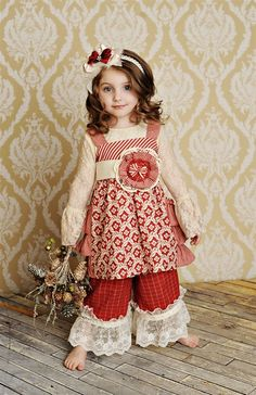 persnickety christmas clothing | Persnickety Clothing - Olivia Jumper Dress in Red Holiday