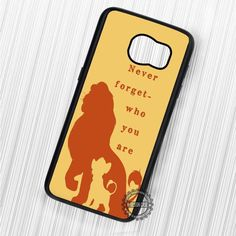 Never Forget Who You Are Quote - Samsung Galaxy S7 S6 S5 Note 7 Cases & Covers