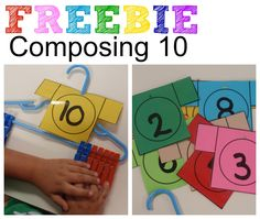 Term 1 Composing 10 with Hanger and Clothespins Preschool Math, Math Classroom, Kindergarten Math, Fun Math, Teaching Math, Math Stations, Math Centers, Math Resources, Math Activities