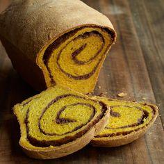 Raised Pumpkin Bread with a Pumpkin-Pecan-Cranberry Swirl // More Pumpkin Recipes: http://www.foodandwine.com/slideshows/pumpkin #foodandwine