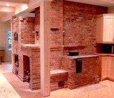 Masonry Stove. Heat & Cook Efficiently in Cold Climates.