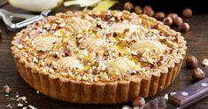 Recette de Tarte amandine croustillante aux poires et aux noisettes. Facile et rapide à réaliser, goûteuse et diététique.