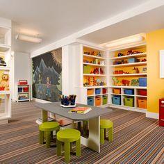 Traditional Kids Design, Pictures, Remodel, Decor and Ideas  (I like the chalk wall...)