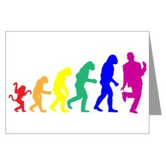 the gay evolution card with blank insert, delivered to your door. Custom Cards, Custom Greeting Cards, Mary Jordan, Lgbt History, Mary I, Evolution T Shirt, Funny Cards, Make Me Happy, Note Cards
