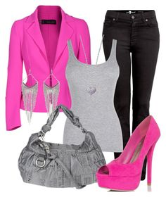 Bold Blazer by dori-tyson on Polyvore featuring polyvore fashion style Dsquared2 7 For All Mankind JustFabulous Nannini Charlotte Russe