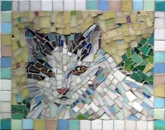 cat mosaic art   MOSAIC ART COMMISSIONS FOR THE HOME, PORTFOLIO OF FINE ART MOSAICS ...
