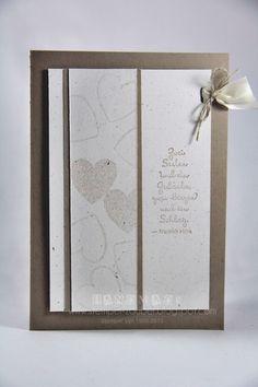 Hochzeitskarte ... Glückwunschkarte Hochzeit von Stempel:Zauber auf DaWanda.com