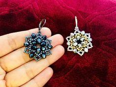Diy earrings 607493437217949706 - DIY Beaded Earrings or Pendant Diy Earrings Pearl, Seed Bead Earrings, Crystal Earrings, Diamond Earrings, Diamond Stud, Statement Earrings, Seed Beads, Beaded Earrings Patterns, Beading Patterns