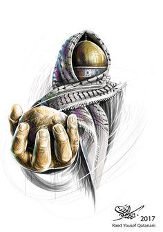 Palestine History, Palestine Art, Palestinian Embroidery, Neue Tattoos, Islamic Wallpaper, Mecca Wallpaper, Islamic Paintings, Arabic Art, Islamic Art Calligraphy