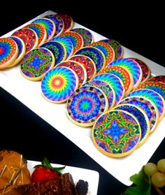 Oh, you know, just some kaleidoscopic cookies.  These would not last long in a Kaleid rehearsal...
