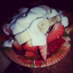 Strawbanana with yoghurt