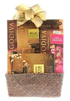 Wine.com Sampler Gift Basket Containing Godiva Chocolates - http://bestchocolateshop.com/wine-com-sampler-gift-basket-containing-godiva-chocolates/