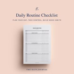 The Rain Journal Printable To Do List Planners - have a look at our huge To Do List Planner Printable library. Find daily, weekly, monthly and yearly checklist, to do list for home, school and work. These are perfect for your binders such as filofax and kikki k.  #printableplanner #planners #printables #printableplanners Routine Printable, To Do Lists Printable, Printable Planner, Printables, Chore Checklist, Daily Checklist, Planner Inserts, Planner Pages, Business Planner