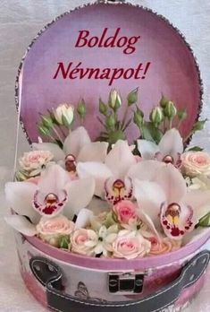 Ildikótól szeretettel! Happy Name Day, Advent 2016, Good Morning Greetings, Shrek, Happy Birthday, Names, Flowers, Tulips, Saint Name Day