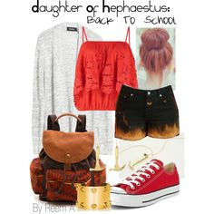 Daughter Of Hephaestus Back To School Outfit, Cabin 9, Percy Jackson Inspired Outfit