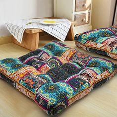 Outdoor Seat Cushions, Boho Cushions, Diy Pillows, Throw Pillows, Square Floor Pillows, Round Floor Pillow, Meditation Room Decor, Meditation Pillow, Mandala Meditation