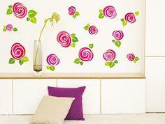 Виниловые наклейки «Стильные розы» - оригинальные наклейки на стену со стилизованным изображением роз.
