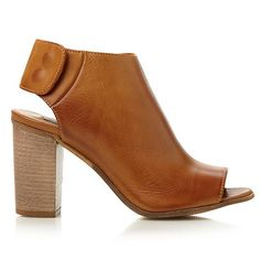 Dune Tan leather 'Finder' foot coverage peep toe