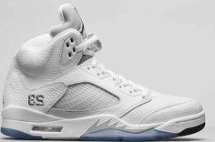 timeless design c177b 982f6 Authentic Air Jordan 5 White Metallic Silver GS Cheap Jordan Shoes, Jordan  Shoes Online,