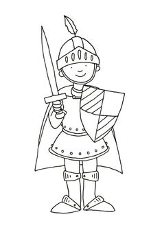 undefined Colouring Pages, Coloring Pages For Kids, Costume Chevalier, Castles Topic, Chateau Moyen Age, Mike The Knight, Castle Crafts, Fairy Tale Crafts, Castle Party