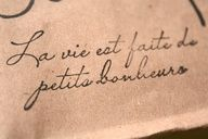 Life is full of little pleasures. - love this font (and the french!) for a tattoo