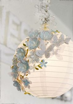 Vintage Nursery Decor and Ideas Linda Albrecht for Glue Arts - I so want to do this with the lanterns in my craft room!